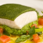 Pesto Coated Halibut